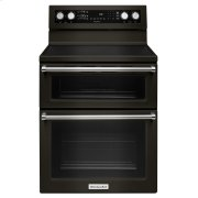 30-Inch 5 Burner Electric Double Oven Convection Range - Black Stainless Steel with PrintShield™ Finish Product Image