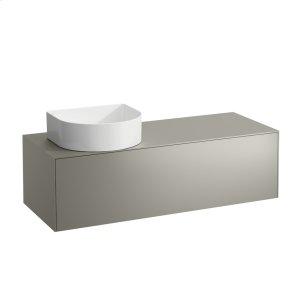 Gold & Nero Marquina Drawer element, 1 drawer, matching bowl washbasins 812340, 812341, 812342, 812343, cut-out left Product Image