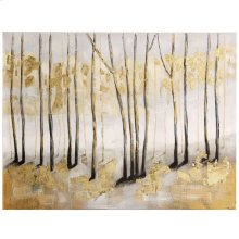 Hand Painted Textured Landscape on Stretched Canvas