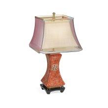 Urban Zen Scarlet Eggshell Table Lamp