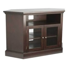 """Chocolate Audio Video Stand Corner unit - fits AV components and TVs up to 52"""""""
