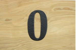 "0 Black 6"" Mailbox House Number 450150 Product Image"