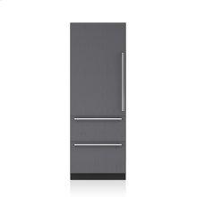 "30"" Designer Over-and-Under Refrigerator with Internal Dispenser - Panel Ready"