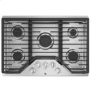 """30"""" Built-In Gas Deep Recessed Edge-to-Edge Stainless Steel Cooktop Product Image"""