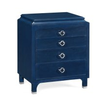 Small Antique Blue Oak Chest of Drawers