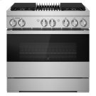 "NOIR 36"" Dual-Fuel Professional Range with Gas Grill Product Image"