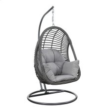 Hanging Basket Chair W/cushion/kd Pole & Round Base