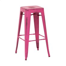 "Bristow 30"" Antique Metal Barstool, Antique Pink Finish, 2-pack"