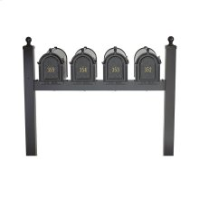 Multi Mailbox Quad Package - Black