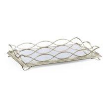glomise & Silver Iron Rectangular Tray