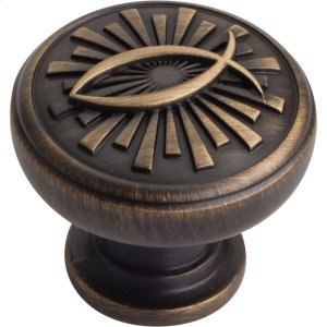 "1-3/8"" Overall Length Icthus Cabinet Knob. Product Image"