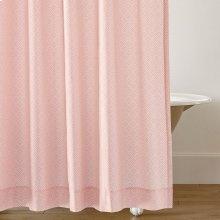 Diamond Lattice Shower Curtain, BLUSH, ONE