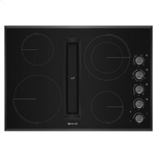 "Black Floating Glass 30"" JX3 Electric Downdraft Cooktop"