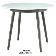 Wilshire Marble Tom Dining Table Gray