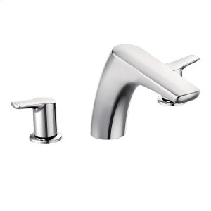 Method chrome two-handle roman tub faucet Product Image