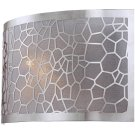 Sconce, Chrome/metal Laser-cut Shade W/liner, E12 B 40w Product Image
