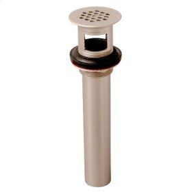 Lavatory Grid Drain with Overflow - Brushed Nickel