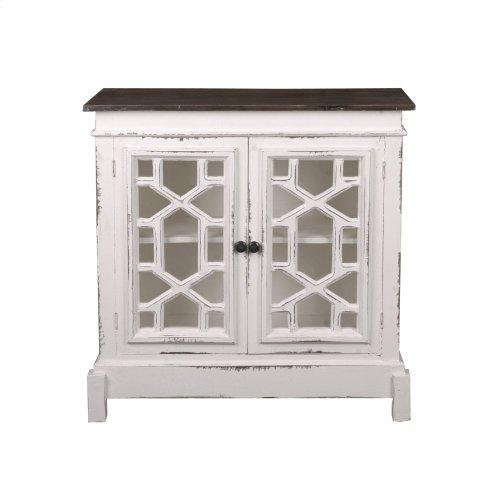 CC-CHE301TLD-WWRW  Lattice Cabinet
