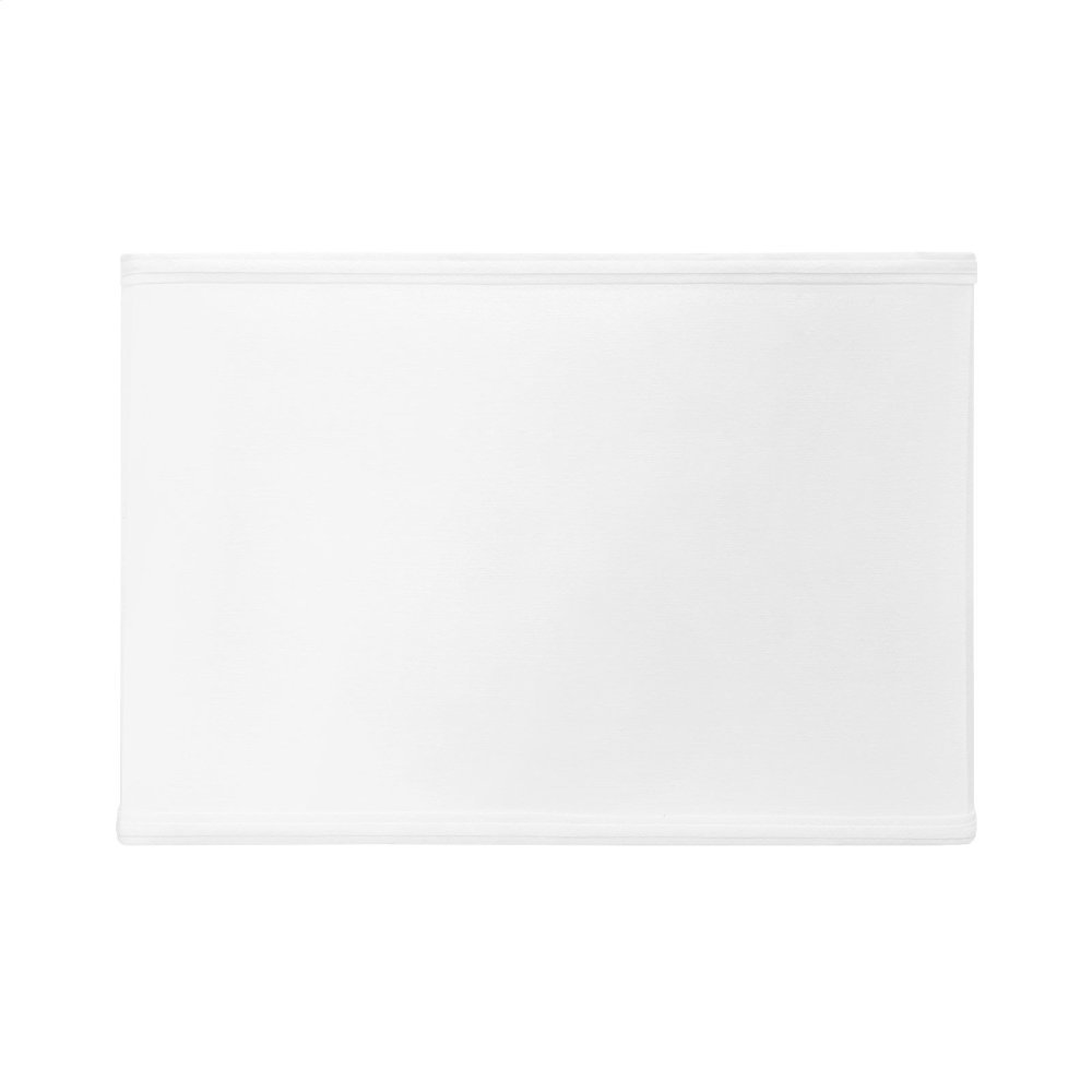 Shade 16-inch Square with Nickel, White Linen