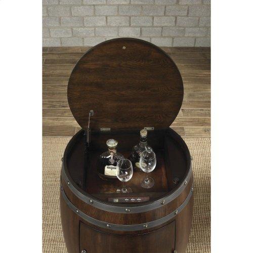 Wine Barrel Refrigerator, Dark Cherry