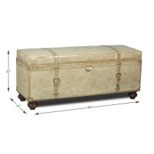 Leather Trunk/Bench, Pearl Leather