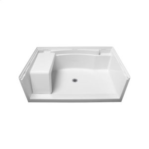 """Accord® 60"""" Seated Shower Receptor - White Product Image"""