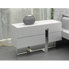Modrest Voco - Modern White Bedroom Nightstand
