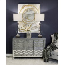 Room Collection  2-Table Lamps 1-Chest 1-Mirror 1-Framed Print 1-Vase
