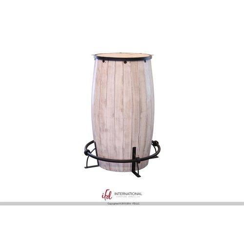 Bistro Table base Barrel shaped - Brown finish