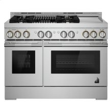 """48"""" RISE™ Gas Professional-Style Range with Chrome-Infused Griddle and Infrared Grill, RISE"""