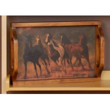 """#298 Serving Tray 18""""wx3.5""""dx12""""h"""