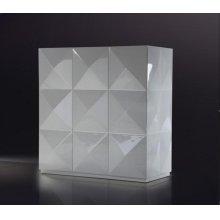 Versus Eva - White Lacquer Square 3 Door Cabinet
