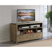 Liam - 54-inch TV Console - Gray Acacia/galvanized Metal Finish