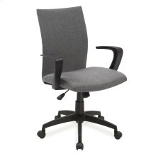 Gray Linen Apostrophe Office Chair #10115GR