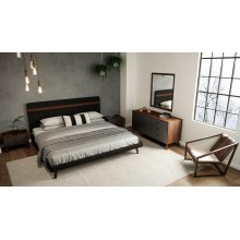 Nova Domus Dali Modern Grey & Walnut Bedroom Set