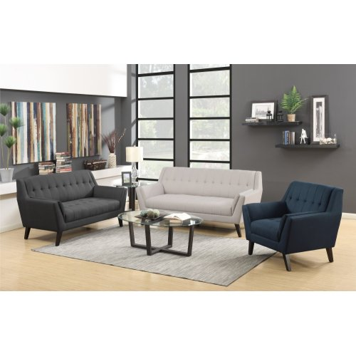 Emerald Home Binetti Loveseat Charcoal U3216-01-03