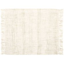 "Throw T1123 Cream 50"" X 60"" Throw Blanket"