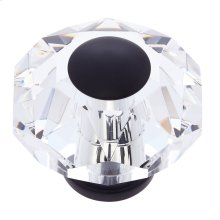 Oil Rubbed Bronze 60 mm 8-Sided Crystal Knob