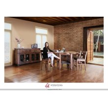Counter Height Dining Table with Shelf - KD System