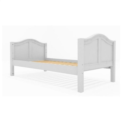 Basic Bed (Low/Low) : Twin : White : Curved