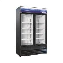 45 cu ft 2 Door Merchandiser Refrigerator (Black)