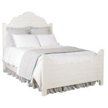 Jo's White Shiplap King Bed