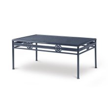 Augustine Metal Cocktail Table W/ Tempered Glass