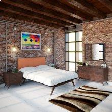 Tracy 5 Piece Queen Bedroom Set in Cappuccino Orange
