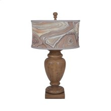 Turned Urn Table Lamp In Artisan Dark Stain