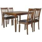 Kodiak 5 Piece Dining Set - Light Oak / Black Product Image