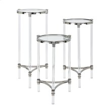 NK Stefford Acrylic and Glass Tables - Set of 3
