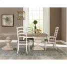 Elizabeth - Upholstered Ladderback Arm Chair - Smokey White Finish Product Image