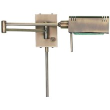 Halogen Wall Lamp, Antique Brass, 100w/j Type