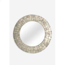 Cameron Round Mirror M - Silver (24X24X1)